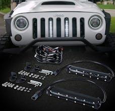 Race Sport Lighting RS2LJK High Power LED Grille kit with (2) LED Light Bars -