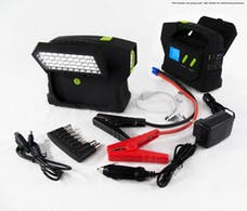 Race Sport Lighting RS-09-MEGAKIT 25,000mAH Jump Kit 24v with Large Scope Flashlight One year Warranty