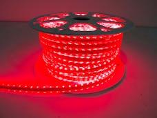 Race Sport Lighting MS-5050-164FT-R 110v Weatherproof Pier Light Strip 164ft Red 5050