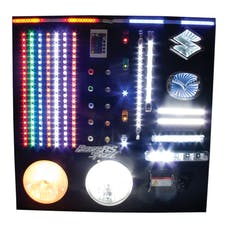 Race Sport Lighting RS-2X2-DISPLAY Multi-Sku Interactive 2'x2' Wall Display