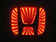 Race Sport Lighting RS-3DLED-HON-R 3D LED Logo Badge (Honda-Red)