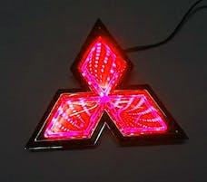 Race Sport Lighting RS-3DLED-MIT-R 3D LED Logo Badge (Mitsubishi-Red)