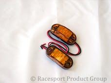 "Race Sport Lighting RS-O2.5-2HA 2.5x1"" Amber Marker (w/ 2 Hole Mount)"