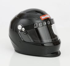 Racequip 273003 Pro15 Full Face Snell Race Helmet (Gloss Black, Medium)