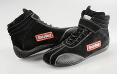Racequip 30500060 Euro Carbon-L Series SFI Racing Shoes (Black, Size 6.0)