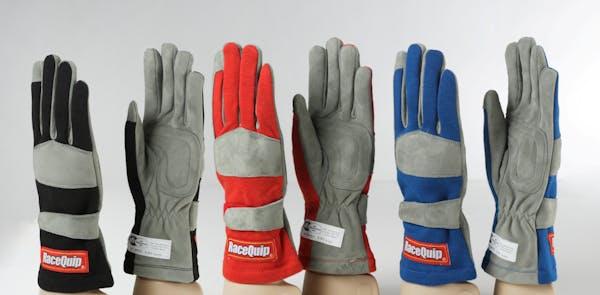RaceQuip 351003 SFI-1 Single-Layer Racing Gloves (Black, Medium)
