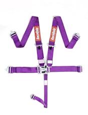 Racequip 711051 SFI 16.1 Latch & Link 5-Point Racing Harness Set (Purple)