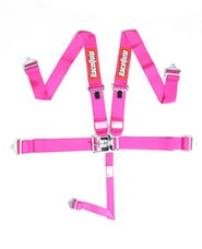 Racequip 711081 SFI 16.1 Latch & Link 5-Point Racing Harness Set (Pink)