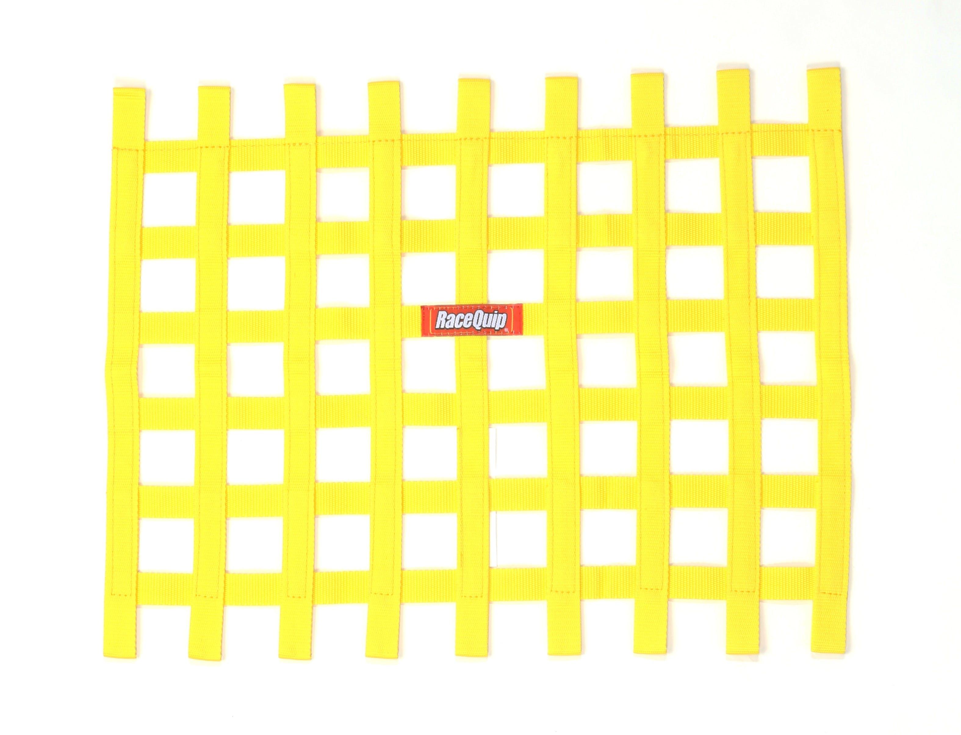 "Racequip 726003 18/"" X 18/"" SFI Ribbon Style Window Net Black"