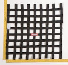 """Racequip 726009 SFI 24.1 Ribbon-Style Race Car Window Net (Black, 24""""x24"""")"""