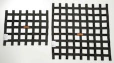"""Racequip 726001 SFI 24.1 Ribbon-Style Race Car Window Net (Black, 15""""x18"""")"""