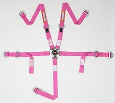 Racequip 739089 SFI 16.2 JR Dragster & Quarter Midget 5-Point Youth Racing Harness Set (Pink)