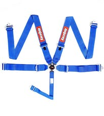 Racequip 741021 Sportsman SFI 16.1 5-Point Camlock Racing Harness Set (Blue/Pull-Down)