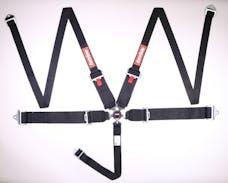 RaceQuip 745005 Sportsman SFI 16.1 5-Point Camlock HANS/FHR Racing Harness Set (Black/Pull-Down)