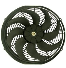 "RPC (Racing Power Company) R1016 16"" universal cooling fan w/curved blades 12v"