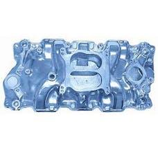 RPC (Racing Power Company) R1102 Satin alum sbc spread-bore intake manifold