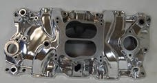 RPC (Racing Power Company) R1102POL Polished alum sbc spread-bore intake manifold