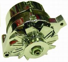 RPC (Racing Power Company) R3903 1965-89 ford alternator sng/groove chrome