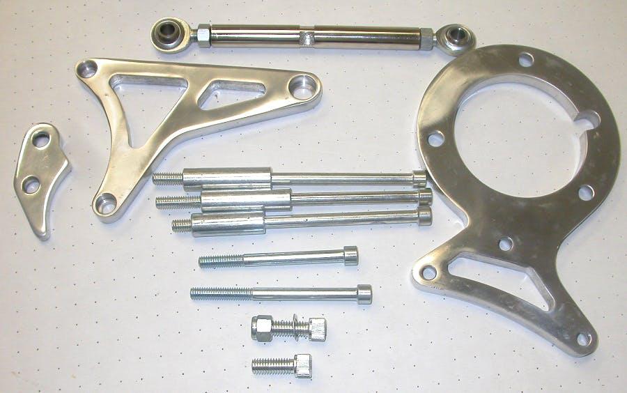 Racing Power R7758 Alternator Bracket Chrome 1955-68 SB Chevy 283-350 Low Rpc