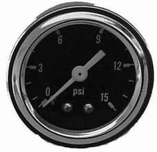 RPC (Racing Power Company) R5715 Fuel pressure gauge 0-15 psi ea