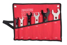 Redhorse Performance 5468-1 Double-ended aluminum AN wrench-  complete set -04 to AN -16 - silver & black