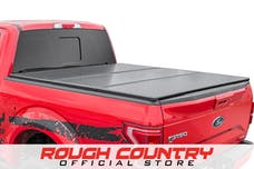 Rough Country 45207550 Hard Tri-Fold Tonneau Bed Cover (5.5-foot Bed w/o Cargo Management System)