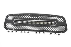 Rough Country 70199 Laser-Cut Mesh Grille w/ 30-inch Black Series Dual Row CREE LED Light Bar