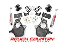 Rough Country 722.20 Front 2-inch / Rear 4-inch Spindle Lowering Kit