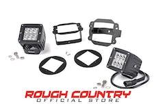 Rough Country 70615 2-inch Chrome Series CREE LED Fog Light Kit (10-18 Wrangler JK)
