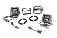 Rough Country 70630 2-inch Black Series CREE LED Fog Light Kit (10-18 Wrangler JK)