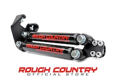 Rough Country 87307 Stacked Dual Steering Stabilizer for 4-6-inch Lifts