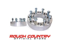 Rough Country 1099 2-inch Wheel Spacer Pair (8-by-6.5-inch Bolt Pattern)