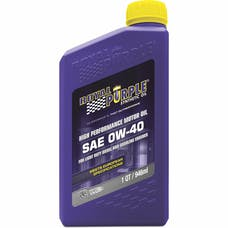 Royal Purple 11484 0W-40 Passenger Car Engine Oil Qt. Bottle