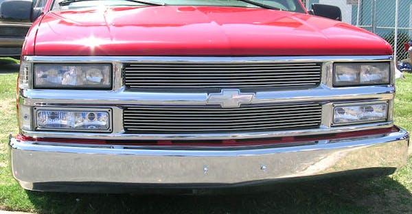 T-Rex Grilles 20045 Billet Grille, Polished, Aluminum, 2 Pc, Insert