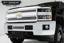 T-Rex Grilles 55122 Upper Class Bumper Grille, Polished, Stainless Steel, 1 Pc, Overlay