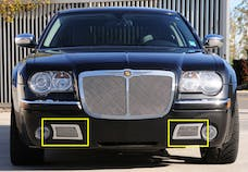 T-Rex Grilles 55471 Upper Class Bumper Grille, Polished, Stainless Steel, 2 Pc, Overlay