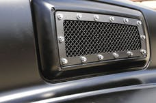 T-Rex Grilles 6710841 X-Metal Side Vent, Black, Mild Steel, 1 Pc, Replacement