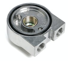 "Trans Dapt Performance 1320 Oil Cooler Sandwich Adapter;2-1/2"" ID; 2 3/4"" OD Filter Flange;13/16""-16 Thread"