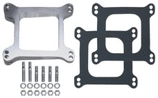 """Trans Dapt Performance 2008 1-13/16"""" Tall, HOLLEY/AFB 4BBL 8deg LEVELING BLOCK;Open-CAST ALUM Carb Spacer"""