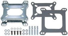 "Trans Dapt Performance 2065 15/16"" Tall, 2BBL Carb to 4BBL Intake Manifold Carburetor Adapter -Cast Aluminum"