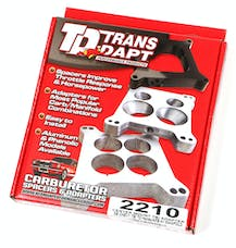 Trans Dapt Performance 2210 SB Chevy TBI on to Holley 4BBL Manifold- CENTER MOUNT Carburetor to TBI Adapter