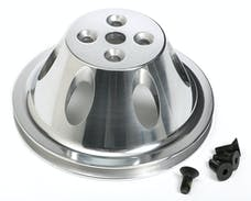 Trans Dapt Performance 6050 WATER PUMP Pulley; 1 Groove; 55-68 CHEVROLET 283-350; SHORT W/P- Pol. ALUMINUM