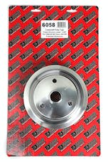 Trans Dapt Performance 6058 CRANKSHAFT Pulley; 3 Groove; 55-68 CHEVROLET 283-350; LONG W/P- Pol. ALUMINUM