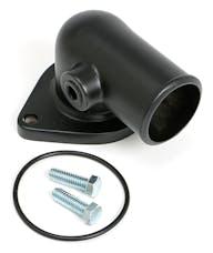 "Trans Dapt Performance 8583 ASPHALT BLACK POWDER-COATED WATER NECK; FORD 390-428 (3/8"" NPT PORT)"