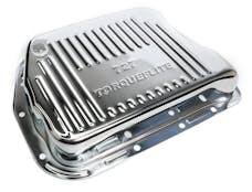 Trans Dapt Performance 9108 CHROME STEEL EXTRA CAPACITY TRANSMISSION PAN; FINNED; CHRYSLER 727