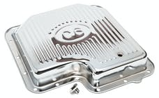 Trans Dapt Performance 9125 FORD C-6-CHROME Transmission Pan; Stock Capacity; Stock Depth; FINNED Bottom