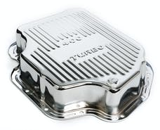 "Trans Dapt Performance 9197 TH400-CHROME Transmission Pan; Extra Capacity (+1.5 Qt); 3"" Depth; FINNED"