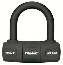 "Trimax MAX60 Ultra-Max Security Disc U-Lock - Red With 9/16"" Black Shackle"