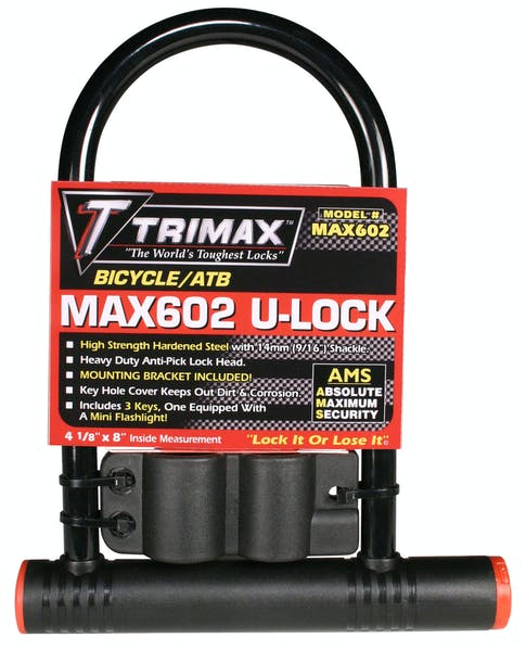 """Trimax MAX602 Medium Security PVC Coated 4-1/8"""" X 11"""" Inside with 14mm Hardened Shackle"""
