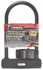 "Trimax MAX702 Max Security U-Shackle Lock 5"" X 9"" with 15mm Shackle"